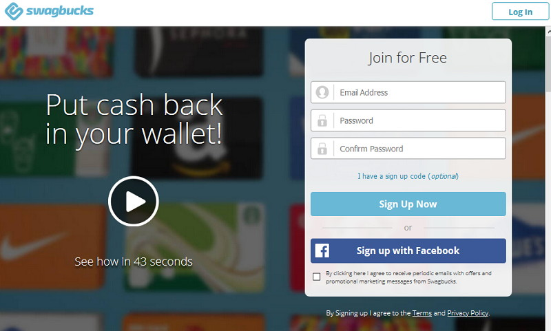 SwagBucks Get Free Gift Cards and Cash online