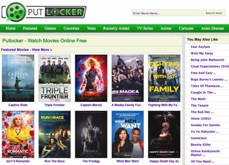 Alternatives to Putlocker to Watch Free Movies and TV Shows